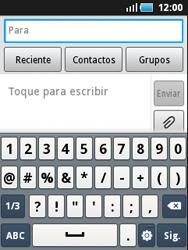 Samsung S5570 Galaxy Mini - Mensajería - Escribir y enviar un mensaje multimedia - Paso 4