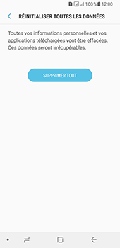 Samsung Galaxy A8 - Aller plus loin - Restaurer les paramètres d'usines - Étape 8