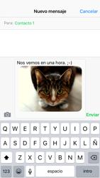 Apple iPhone 6s iOS 9 - Mensajería - Escribir y enviar un mensaje multimedia - Paso 13