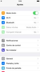 Apple iPhone 6 iOS 8 - Funciones básicas - Activar o desactivar el modo avión - Paso 4
