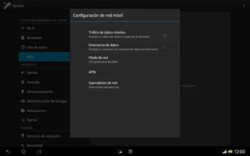 Sony Xperia Tablet Z - Red - Seleccionar el tipo de red - Paso 6