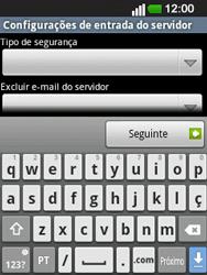 LG E400 - Email - Configurar a conta de Email -  15