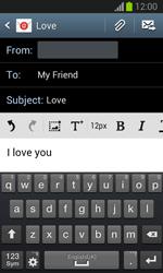 Samsung S7390 Galaxy Trend Lite - E-mail - Sending emails - Step 10