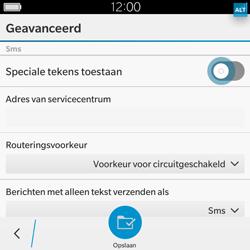 BlackBerry Classic - SMS - Handmatig instellen - Stap 8