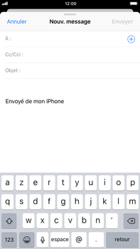 Apple iPhone 6s Plus iOS 11 - E-mail - Envoi d