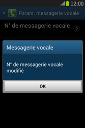 Samsung S6310 Galaxy Young - Messagerie vocale - configuration manuelle - Étape 10