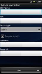 Sony Xperia Neo V - E-mail - Manual configuration - Step 10