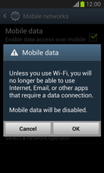 Samsung I8260 Galaxy Core - Internet - Enable or disable - Step 7