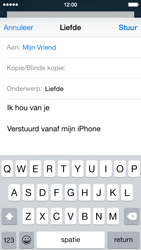 Apple iPhone 5c (Model A1507) met iOS 8 - E-mail - Hoe te versturen - Stap 8