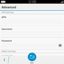 BlackBerry Classic - Mms - Manual configuration - Step 8