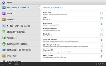 Samsung P7500 Galaxy Tab 10-1 - Funciones básicas - Activar o desactivar el modo avión - Paso 4