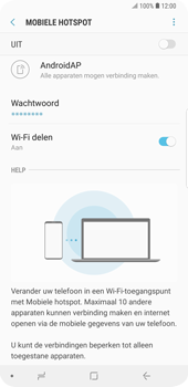 Samsung Galaxy S9 Plus (SM-G965F) - WiFi - Mobiele hotspot instellen - Stap 7