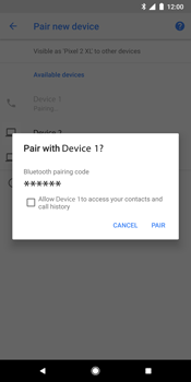 Google Pixel 2 XL - WiFi and Bluetooth - Setup Bluetooth Pairing - Step 9