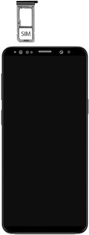 Samsung Galaxy S9 - Premiers pas - Insérer la carte SIM - Étape 4