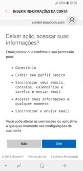 Samsung Galaxy S9 - Email - Como configurar seu celular para receber e enviar e-mails - Etapa 7