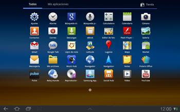 Samsung P7500 Galaxy Tab 10-1 - Mensajería - Configurar el equipo para mensajes de texto - Paso 3