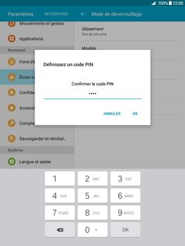 Samsung Galaxy Tab A - Sécuriser votre mobile - Activer le code de verrouillage - Étape 10