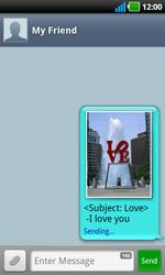 LG P970 Optimus Black - Mms - Sending a picture message - Step 11