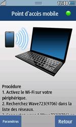 Samsung Wave 723 - Internet et connexion - Partager votre connexion en Wi-Fi - Étape 10