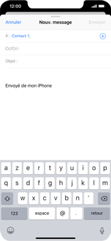 Apple iPhone XS Max - E-mails - Envoyer un e-mail - Étape 6