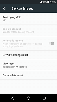 Acer Liquid Zest 4G Plus - Device - Factory reset - Step 6