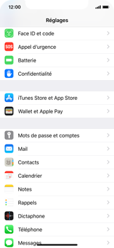 Apple iPhone XS - E-mail - Configuration manuelle - Étape 3