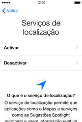 Apple iPhone 4S iOS 8 - Primeiros passos - Como ligar o telemóvel pela primeira vez -  11