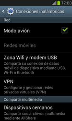 Samsung Galaxy S3 Mini - Funciones básicas - Activar o desactivar el modo avión - Paso 7