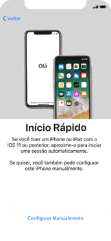 Apple iPhone X - iOS 12 - Primeiros passos - Como ativar seu aparelho - Etapa 7