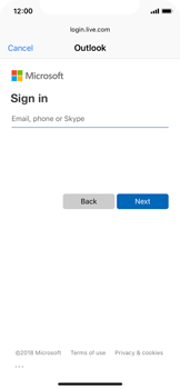 Apple iPhone XS - E-mail - Manual configuration (outlook) - Step 6