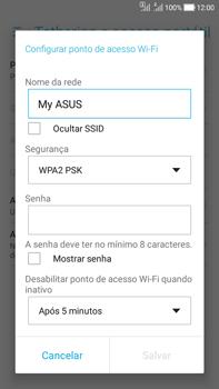Asus Zenfone Selfie - Wi-Fi - Como usar seu aparelho como um roteador de rede wi-fi - Etapa 6