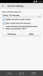 Huawei Ascend P7 - Email - Manual configuration - Step 18