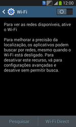 Samsung SM-G3502T Galaxy Core Plus Duo TV - Wi-Fi - Como configurar uma rede wi fi - Etapa 5