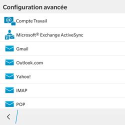 BlackBerry Classic - E-mail - Configuration manuelle - Étape 7