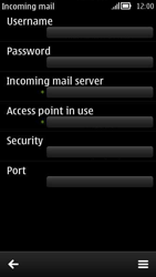Nokia 808 PureView - E-mail - Manual configuration - Step 12