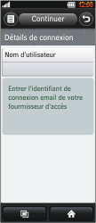 LG BL40 New Chocolate - E-mail - Configuration manuelle - Étape 6