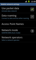 Samsung I9070 Galaxy S Advance - Network - Usage across the border - Step 10