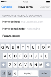 Apple iPhone 4S iOS 8 - Email - Configurar a conta de Email -  12