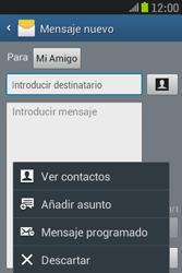 Samsung S6310 Galaxy Young - Mensajería - Escribir y enviar un mensaje multimedia - Paso 10