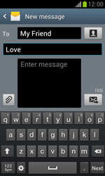 Samsung S7560 Galaxy Trend - Mms - Sending a picture message - Step 11