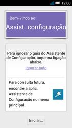 Alcatel POP C7 - Primeiros passos - Como ligar o telemóvel pela primeira vez -  4