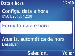 Nokia Asha 302 - Funções básicas - Como configurar data e hora - Etapa 9