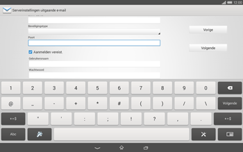 Sony Xperia Tablet Z2 (SGP521) - E-mail - e-mail instellen: IMAP (aanbevolen) - Stap 12