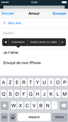Apple iPhone 5 iOS 8 - E-mail - envoyer un e-mail - Étape 9