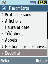 Samsung C3590 - Sécuriser votre mobile - Activer le code de verrouillage - Étape 4