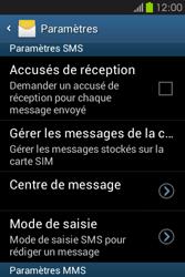 Samsung S6810P Galaxy Fame - SMS - configuration manuelle - Étape 8