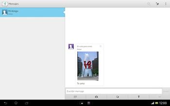Sony Xperia Tablet Z - Mensajería - Escribir y enviar un mensaje multimedia - Paso 16