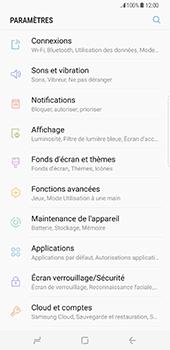 Samsung Galaxy S8 Plus - Wifi - configuration manuelle - Étape 3