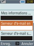 Samsung B2100 Xplorer - E-mail - Configuration manuelle - Étape 18