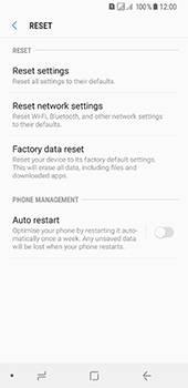Samsung Galaxy A8 (2018) - Device - Reset to factory settings - Step 7